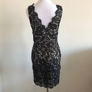 Dresses - Black and nude illusion dress Small